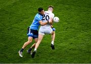 9 June 2019; Kevin O'Callaghan of Kildare is dispossessed by Rory O'Carroll of Dublin during the Leinster GAA Football Senior Championship semi-final match between Dublin and Kildare at Croke Park in Dublin. Photo by Stephen McCarthy/Sportsfile