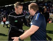 9 June 2019;Armagh Manager Kieran McGeeney and Cavan manager Mickey Graham  shake hands after the Ulster GAA Football Senior Championship Semi-Final Replay match between Cavan and Armagh at St Tiarnach's Park in Clones, Monaghan. Photo by Oliver McVeigh/Sportsfile