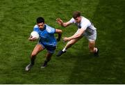 9 June 2019; Cian O'Sullivan of Dublin in action against Kevin O'Callaghan of Kildare during the Leinster GAA Football Senior Championship semi-final match between Dublin and Kildare at Croke Park in Dublin. Photo by Stephen McCarthy/Sportsfile