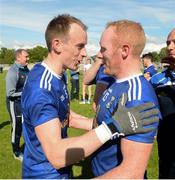 9 June 2019; Martin Reilly and CIan Mackey of Cavan celebrates after the Ulster GAA Football Senior Championship Semi-Final Replay match between Cavan and Armagh at St Tiarnach's Park in Clones, Monaghan. Photo by Oliver McVeigh/Sportsfile