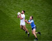 9 June 2019; Ben McCormack of Kildare in action against Michael Fitzsimons of Dublin during the Leinster GAA Football Senior Championship semi-final match between Dublin and Kildare at Croke Park in Dublin. Photo by Stephen McCarthy/Sportsfile