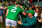 9 June 2019; Seán Finn of Limerick with his mother Siobhan and father Brian after the Munster GAA Hurling Senior Championship Round 4 match between Limerick and Clare at the LIT Gaelic Grounds in Limerick. Photo by Diarmuid Greene/Sportsfile
