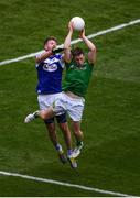9 June 2019; Bryan McMahon of Meath and Denis Booth of Laois during the Leinster GAA Football Senior Championship Semi-Final match between Meath and Laois at Croke Park in Dublin. Photo by Stephen McCarthy/Sportsfile
