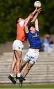 9 June 2019; Niall Grimley of Armagh in action against Conor Brady of Cavan during the Ulster GAA Football Senior Championship Semi-Final Replay match between Cavan and Armagh at St Tiarnach's Park in Clones, Monaghan. Photo by Oliver McVeigh/Sportsfile