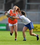 9 June 2019; Blaithin Mackin of Armagh in action against Eva Woods of Monaghan during the TG4 Ulster Ladies Senior Football Championship Semi-Final match between Armagh and Monaghan at Pairc Esler in Newry, Down. Photo by David Fitzgerald/Sportsfile