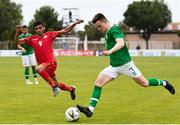 9 June 2019; Darragh Leahy of Ireland in action against Ahmed Sanad of Bahrain during the 2019 Maurice Revello Toulon Tournament match between Bahrain and Republic of Ireland at Jules Ladoumegue stadium in Vitrolles, France.