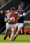 9 June 2019; Jarlath Og Burns of Armagh in action against Jason McLoughlin of Cavan during the Ulster GAA Football Senior Championship Semi-Final Replay match between Cavan and Armagh at St Tiarnach's Park in Clones, Monaghan. Photo by Philip Fitzpatrick/Sportsfile