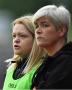 9 June 2019; Armagh joint-managers Lorraine McCaffrey, left, and Fionnuala McAtamney during the TG4 Ulster Ladies Senior Football Championship Semi-Final match between Armagh and Monaghan at Pairc Esler in Newry, Down. Photo by David Fitzgerald/Sportsfile