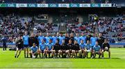 9 June 2019; The Dublin squad before the Leinster GAA Football Senior Championship Semi-Final match between Dublin and Kildare at Croke Park in Dublin. Photo by Piaras Ó Mídheach/Sportsfile