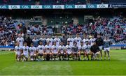 9 June 2019; The Kildare squad before the Leinster GAA Football Senior Championship Semi-Final match between Dublin and Kildare at Croke Park in Dublin. Photo by Piaras Ó Mídheach/Sportsfile