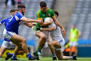 9 June 2019; Donal Keogan of Meath is fouled by Laois goalkeeper Graham Brody for a penalty that was scored by Mickey Newman during the Leinster GAA Football Senior Championship Semi-Final match between Meath and Laois at Croke Park in Dublin. Photo by Piaras Ó Mídheach/Sportsfile