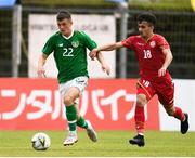 9 June 2019; Jason Knight of Ireland in action against Adnan Alshirah of Bahrain during the 2019 Maurice Revello Toulon Tournament match between Bahrain and Republic of Ireland at Jules Ladoumegue stadium in Vitrolles, France.