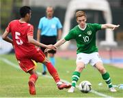 9 June 2019; Connor Ronan of Ireland in action against Abbas Alasfoor of Bahrain during the 2019 Maurice Revello Toulon Tournament match between Bahrain and Republic of Ireland at Jules Ladoumegue stadium in Vitrolles, France.