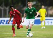 9 June 2019; Liam Scales of Ireland in action against Ahmed Alsherooqi of Bahrain during the 2019 Maurice Revello Toulon Tournament match between Bahrain and Republic of Ireland at Jules Ladoumegue stadium in Vitrolles, France.