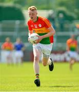 9 June 2019; Conor Doyle of Carlow during the GAA Football All-Ireland Senior Championship Round 1 match between Carlow and Longford at Netwatch Cullen Park in Carlow. Photo by Ramsey Cardy/Sportsfile
