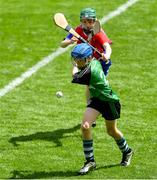 10 June 2019; Senan Bolger of St Mary's BNS, Lucan, in action against Oran Rowley of Belgrove Senior BNS, Clontarf, in the Corn Herald Final during the Allianz Cumann na mBunscol Finals 2019 at Croke Park in Dublin. Photo by Piaras Ó Mídheach/Sportsfile