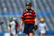 10 June 2019; Kate Keaney of St Colmcille's SNS Knocklyon, and daughter of Dublin hurler Conal Keaney, during the Corn Bean Uí Phuirseil Cup Final against St Pius X GNS, Terenure, during the Allianz Cumann na mBunscol Finals 2019 at Croke Park in Dublin. Photo by Piaras Ó Mídheach/Sportsfile