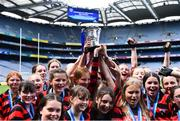 10 June 2019; St Colmcille's SNS Knocklyon players celebrate after winning the Corn Bean Uí Phuirseil Cup Final against St Pius X GNS, Terenure, during the Allianz Cumann na mBunscol Finals 2019 at Croke Park in Dublin. Photo by Piaras Ó Mídheach/Sportsfile