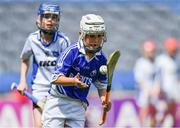 10 June 2019; Oisín Gough of Bishop Galvin NS, Templeogue, in action against Daniel Lynch of Ballyroan BNS in the Corn Marino Final during the Allianz Cumann na mBunscol Finals 2019 at Croke Park in Dublin. Photo by Piaras Ó Mídheach/Sportsfile