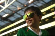 10 June 2019; Republic of Ireland supporter Michael Hayes, age 9, from Aherlow, Tipperary, prior to the UEFA EURO2020 Qualifier Group D match between Republic of Ireland and Gibraltar at Aviva Stadium, Lansdowne Road in Dublin. Photo by Harry Murphy/Sportsfile