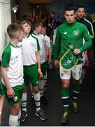 10 June 2019; Seamus Coleman of Republic of Ireland in the tunnel prior to the UEFA EURO2020 Qualifier Group D match between Republic of Ireland and Gibraltar at Aviva Stadium, Lansdowne Road in Dublin. Photo by Stephen McCarthy/Sportsfile