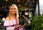 12 June 2019; Orla Finn of Cork is pictured with The Croke Park / LGFA Player of the Month award for May, at The Croke Park in Jones Road, Dublin. Orla was Player of the Match in the 2019 Lidl NFL Division 1 Final, and she scored five points against Galway at Parnell Park on May 5. Orla followed that up with a haul of 0-11 in Cork's TG4 Munster SFC Round 1 victory over Waterford on May 25. Photo by Harry Murphy/Sportsfile
