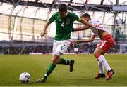 10 June 2019; Seamus Coleman of Republic of Ireland in action against Ethan Britto of Gibraltar during the UEFA EURO2020 Qualifier Group D match between Republic of Ireland and Gibraltar at Aviva Stadium, Lansdowne Road in Dublin. Photo by Stephen McCarthy/Sportsfile