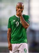 10 June 2019; David McGoldrick of Republic of Ireland reacts during the UEFA EURO2020 Qualifier Group D match between Republic of Ireland and Gibraltar at Aviva Stadium, Lansdowne Road in Dublin. Photo by Stephen McCarthy/Sportsfile
