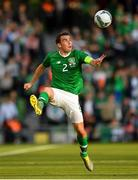 10 June 2019; Seamus Coleman of Republic of Ireland during the UEFA EURO2020 Qualifier Group D match between Republic of Ireland and Gibraltar at the Aviva Stadium, Lansdowne Road in Dublin. Photo by Seb Daly/Sportsfile