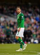 10 June 2019; Richard Keogh of Republic of Ireland during the UEFA EURO2020 Qualifier Group D match between Republic of Ireland and Gibraltar at the Aviva Stadium, Lansdowne Road in Dublin. Photo by Seb Daly/Sportsfile