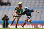 11 June 2019; Nessa Haverty of St. Bridgets GNS, Glasnevin, Dublin in action against Éile Nic Gafraidh of Gaelscoil Mológa, Crois Aralid, Dublin during the Allianz Cumann na mBunscol Finals 2019 Croke Park in Dublin. Photo by Eóin Noonan/Sportsfile