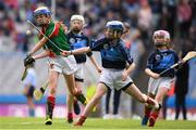 11 June 2019; Rachel Hargan of St. Bridgets GNS, Glasnevin, Dublin in action against Eimear Nic Eochaidh of Gaelscoil Mológa, Crois Aralid, Dublin during the Allianz Cumann na mBunscol Finals 2019 Croke Park in Dublin. Photo by Eóin Noonan/Sportsfile