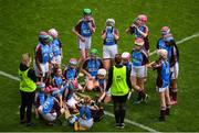 11 June 2019; Players from Scoil Mhuire NS, Woodview, Dublin at half time during the Allianz Cumann na mBunscol Finals 2019 Croke Park in Dublin. Photo by Eóin Noonan/Sportsfile