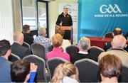 11 June 2019; GAA International Wheelchair Representative team head coach Paul Callaghan, speaking at the announcement of the first ever GAA International Wheelchair representative team at Croke Park in Dublin. Photo by Sam Barnes/Sportsfile