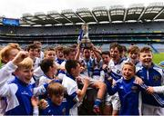 11 June 2019; Players from Scoil Mhuire BNS, Marino, Dublin celebrate with the Corn Herald during the Allianz Cumann na mBunscol Finals 2019 Croke Park in Dublin. Photo by Eóin Noonan/Sportsfile