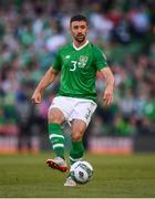 10 June 2019; Enda Stevens of Republic of Ireland during the UEFA EURO2020 Qualifier Group D match between Republic of Ireland and Gibraltar at Aviva Stadium, Lansdowne Road in Dublin. Photo by Stephen McCarthy/Sportsfile
