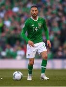 10 June 2019; Conor Hourihane of Republic of Ireland during the UEFA EURO2020 Qualifier Group D match between Republic of Ireland and Gibraltar at Aviva Stadium, Lansdowne Road in Dublin. Photo by Stephen McCarthy/Sportsfile