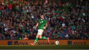 10 June 2019; Shane Duffy of Republic of Ireland during the UEFA EURO2020 Qualifier Group D match between Republic of Ireland and Gibraltar at Aviva Stadium, Lansdowne Road in Dublin. Photo by Stephen McCarthy/Sportsfile
