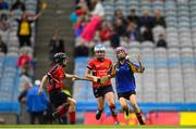 11 June 2019; Layla Hemp of Our Ladys GNS, Ballinteer, Dublin in action against Chika Donohoe of Assumption GNS Walkinstown, Dublin during the Allianz Cumann na mBunscol Finals 2019 Croke Park in Dublin. Photo by Eóin Noonan/Sportsfile