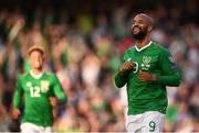 10 June 2019; David McGoldrick of Republic of Ireland following his side's opening goal during the UEFA EURO2020 Qualifier Group D match between Republic of Ireland and Gibraltar at Aviva Stadium, Lansdowne Road in Dublin. Photo by Stephen McCarthy/Sportsfile