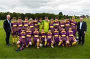 11 June 2019; Republic of Ireland manager Mick McCarthy and former Republic of Ireland international Ray Houghton with the Wexford and District Schoolboys League team prior to their opening Kennedy Cup game at the FAI National Football Exhibition at UL Sports Arena, University of Limerick. Photo by Diarmuid Greene/Sportsfile