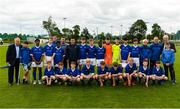 11 June 2019; Republic of Ireland manager Mick McCarthy and former Republic of Ireland international Ray Houghton with the Waterford Schoolboys League team prior to their opening Kennedy Cup game at the FAI National Football Exhibition at UL Sports Arena, University of Limerick. Photo by Diarmuid Greene/Sportsfile
