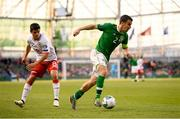 10 June 2019; Seamus Coleman of Republic of Ireland and Anthony Bardon of Gibraltar during the UEFA EURO2020 Qualifier Group D match between Republic of Ireland and Gibraltar at Aviva Stadium, Lansdowne Road in Dublin. Photo by Stephen McCarthy/Sportsfile