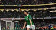 10 June 2019; Robbie Brady of Republic of Ireland celebrates after scoring his side's second goal during the UEFA EURO2020 Qualifier Group D match between Republic of Ireland and Gibraltar at Aviva Stadium, Lansdowne Road in Dublin. Photo by Stephen McCarthy/Sportsfile