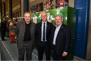 11 June 2019; Former Republic of Ireland manager Eoin Hand, left, Republic of Ireland manager Mick McCarthy, centre, and former Republic of Ireland player Ray Houghton at the opening of the FAI National Football Exhibition at UL Sports Arena, University of Limerick. Photo by Diarmuid Greene/Sportsfile