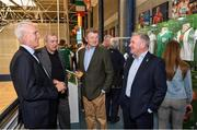 11 June 2019; Republic of Ireland manager Mick McCarthy, former Republic of Ireland manager Eoin Hand, former Limerick FC player Brendan Storan and former Republic of Ireland player Ray Houghton at the opening of the FAI National Football Exhibition at UL Sports Arena, University of Limerick. Photo by Diarmuid Greene/Sportsfile