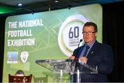 11 June 2019; FAI Communications Director Cathal Dervan at the launch of the FAI National Football Exhibition at UL Sports Arena, University of Limerick. Photo by Diarmuid Greene/Sportsfile