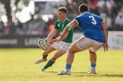 12 June 2019; Jake Flannery of Ireland passes the ball during the World Rugby U20 Championship Pool B match between Ireland and Italy at Club De Rugby Ateneo Inmaculada, Santa Fe in Argentina. Photo by Florencia Tan Jun/Sportsfile