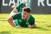 12 June 2019; Rob Russell of Ireland scores a try during the World Rugby U20 Championship Pool B match between Ireland and Italy at Club De Rugby Ateneo Inmaculada, Santa Fe in Argentina. Photo by Florencia Tan Jun/Sportsfile