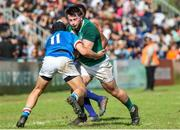 12 June 2019; Dylan Tierney-Martin of Ireland is tackled by Cristian Lai of Italy during the World Rugby U20 Championship Pool B match between Ireland and Italy at Club De Rugby Ateneo Inmaculada, Santa Fe in Argentina. Photo by Florencia Tan Jun/Sportsfile